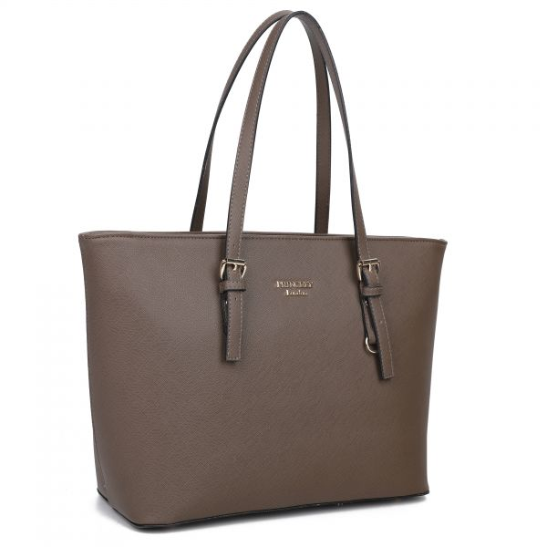 "Shopper ""Beverly"" Coffee Brown"