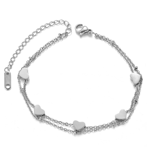 Armband LOVE SQUAD silber