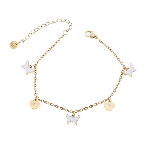 Armband BUTTERFLY-HEART gold